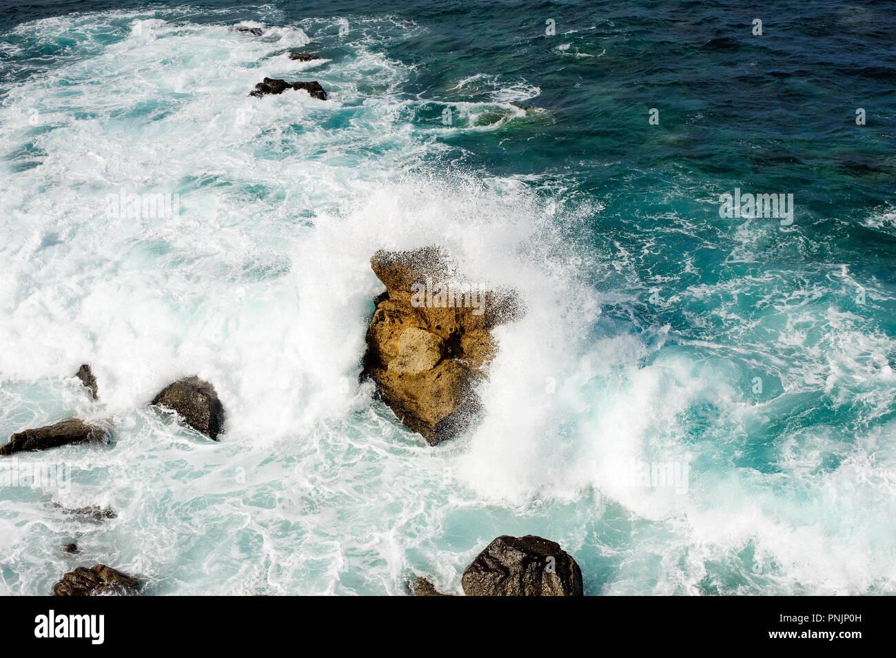Beautiful view on Atlantic ocean from mirador El Atlante in  Las Palmas , Gran Canaria, Spain, Stock Photo
