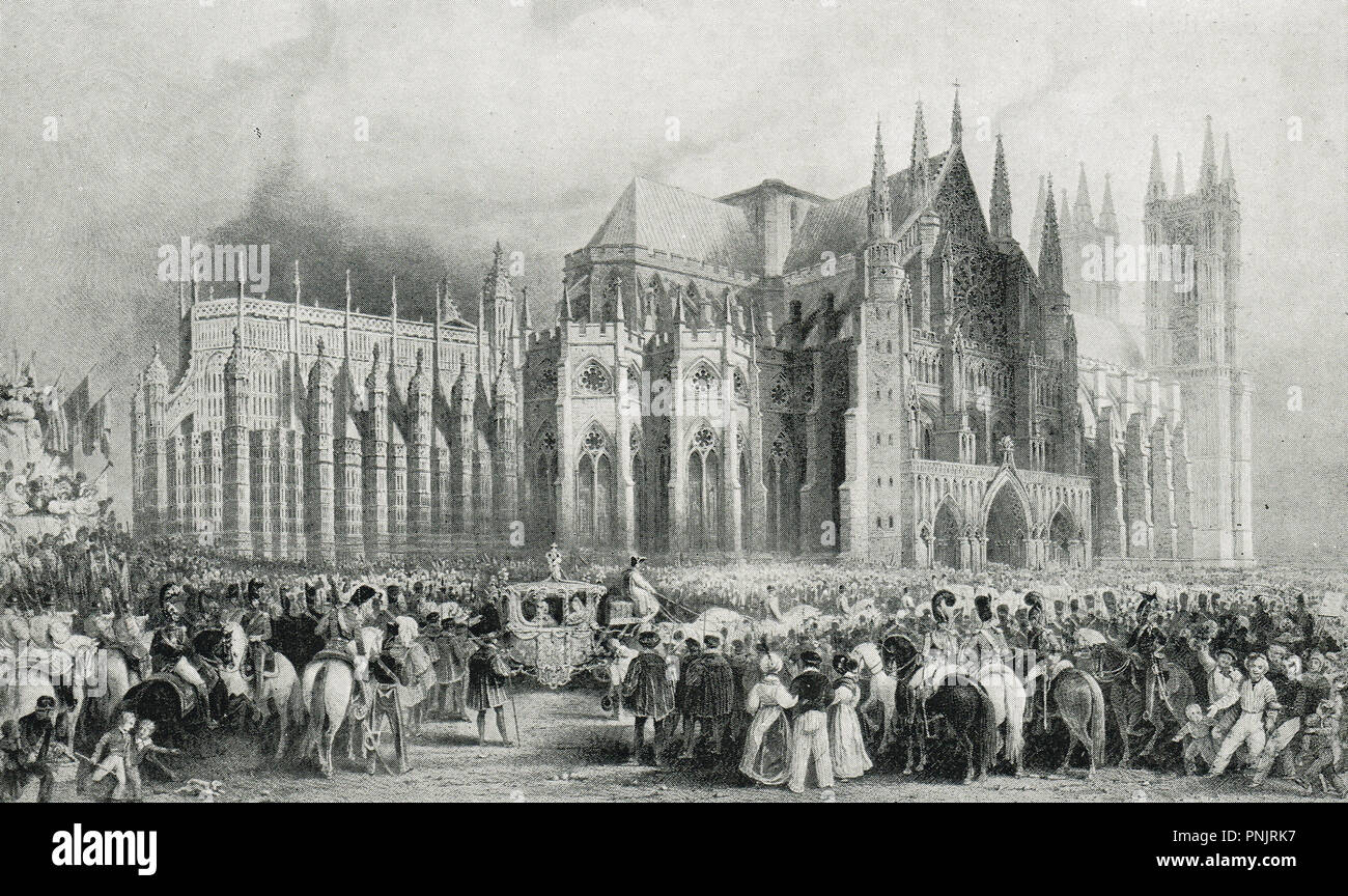Coronation of King William IV, and Queen Adelaide, 8 September 1831 - Stock Image