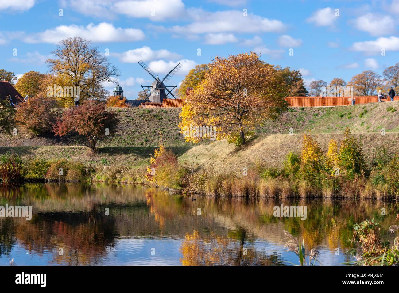 Kastelsmøllen, windmill, Kastellet, København, Denmark - Stock Image