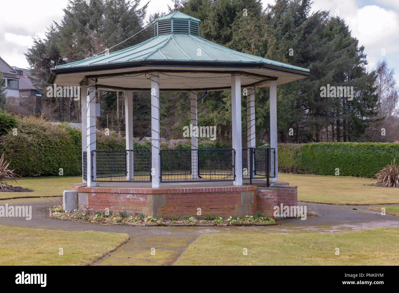 Bandstand at Keith, Moray, Scotland, UK Stock Photo