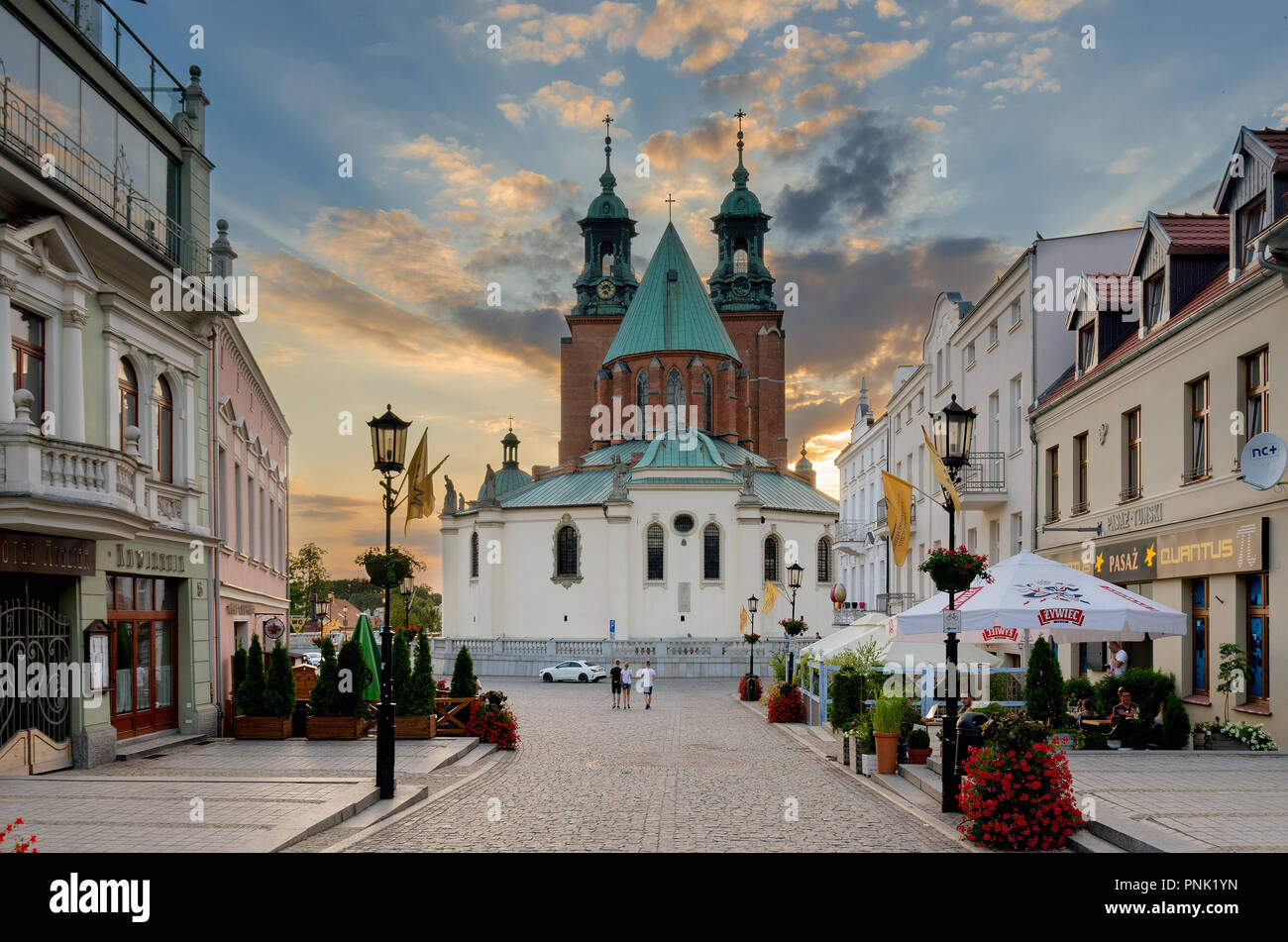 Gniezno, Greater Poland province, Poland. The Royal Gniezno Cathedral. - Stock Image