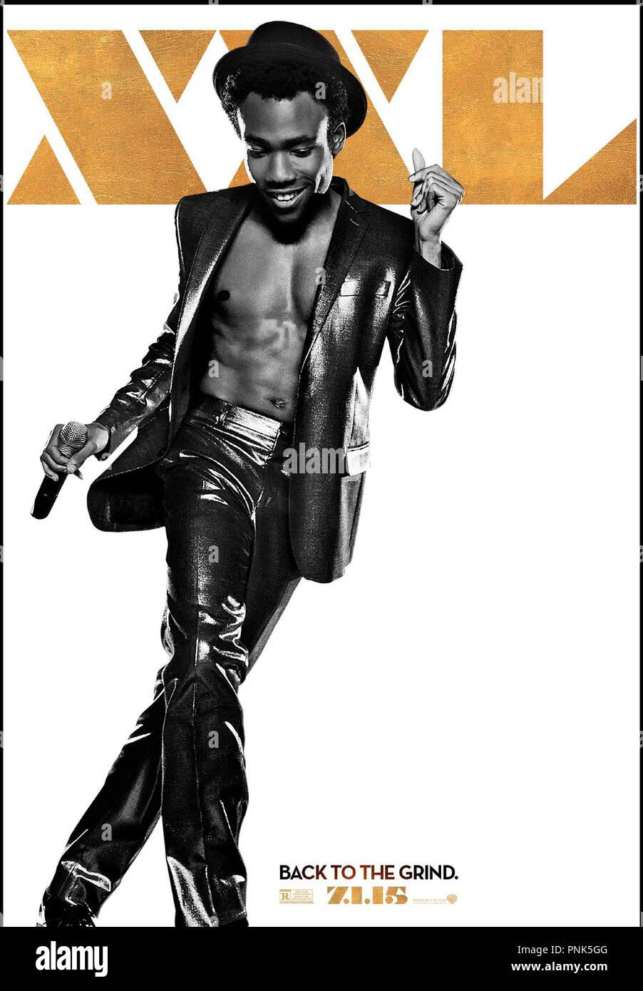 Prod DB © Warner Bros. - Iron Horse Entertainment / DR MAGIC MIKE XXL de Gregory Jacobs 2015 USA teaser americain avec Donald Glover  suite, sequelle, strip teaseur - Stock Image