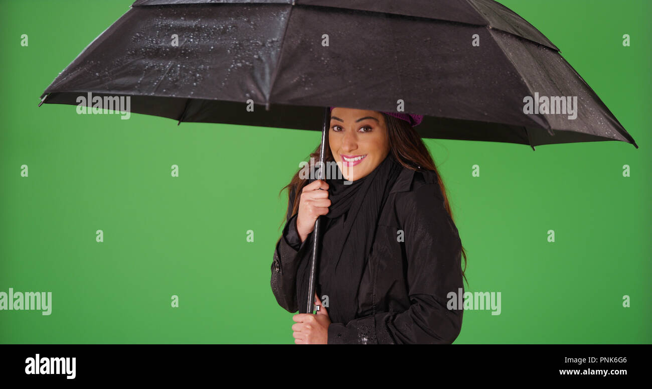 Optimistic Rain Smiling Stock Photos Optimistic Rain Smiling Stock