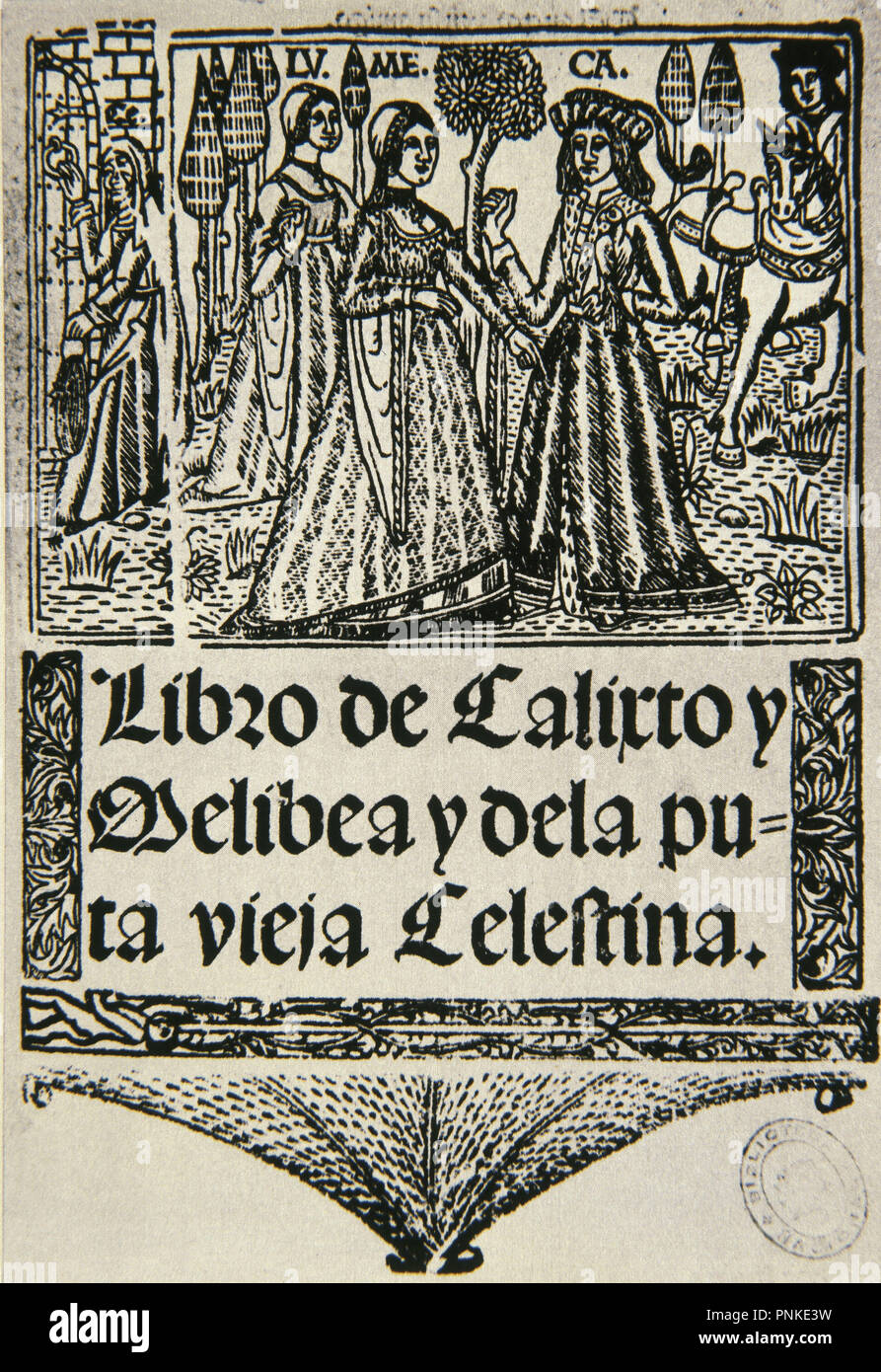 PORTADA DE LA CELESTINA SEVILLA 1502. Author: ROJAS FERNANDO DE. - Stock Image