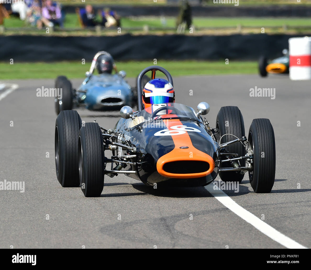 Cameron Jackson, Brabham Ford BT2, Chichester Cup, Formula Juniors, Goodwood Revival 2018, September 2018, automobiles, cars, circuit racing, Classic, - Stock Image