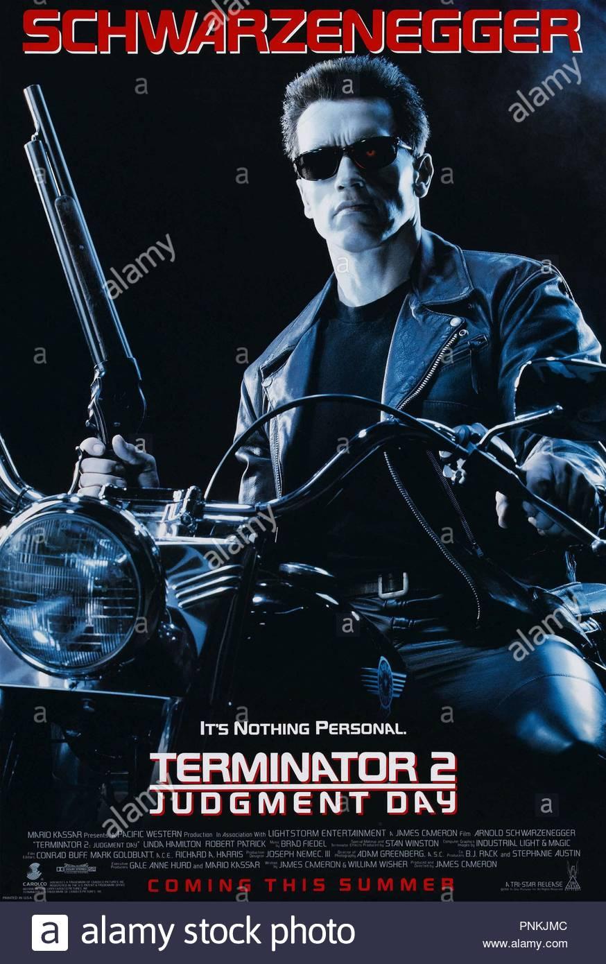 Original film title: TERMINATOR 2: JUDGEMENT DAY. English title: TERMINATOR 2: JUDGEMENT DAY. Year: 1991. Director: JAMES CAMERON. Credit: CAROLCO / Album - Stock Image