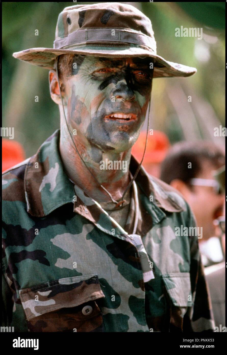 Prod DB © Malpaso Compagny / DR LE MAITRE DE GUERRE (HEARTBREAK RIDGE) de  Clint Eastwood 1986 USA avec Clint Eastwood soldat, militaire, maquillage,
