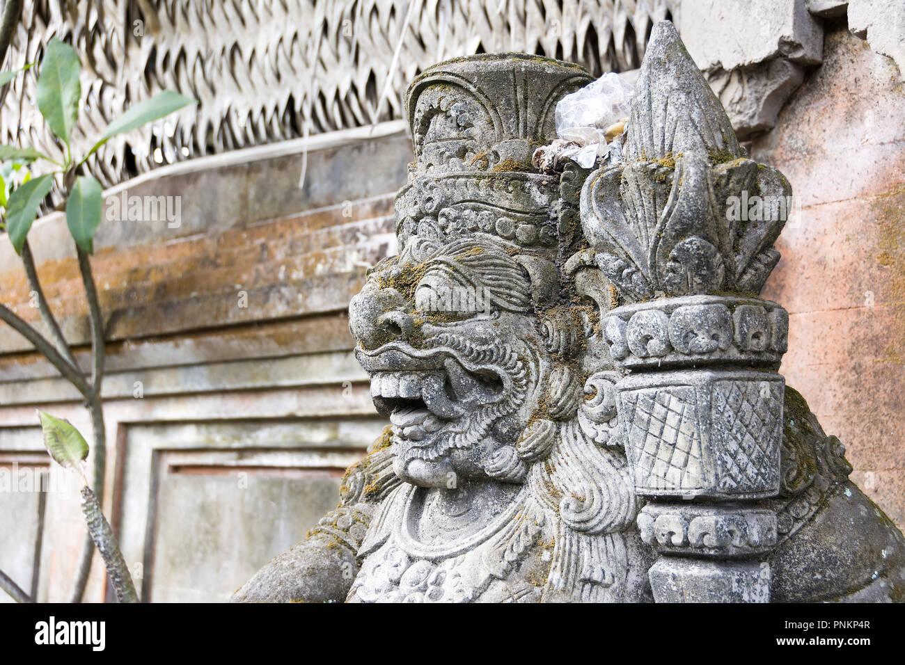 Statue of Hindu God or demon Ubud, Bali, Indonesia - Stock Image