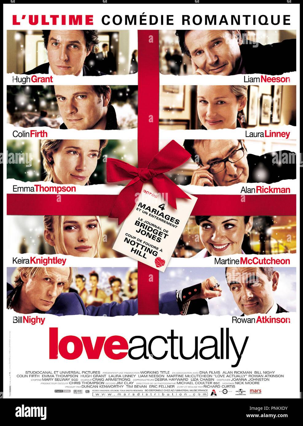 Prod DB © Universal / DR LOVE ACTUALLY (LOVE ACTUALLY) de Richard Curtis 2003 USA affiche - Stock Image