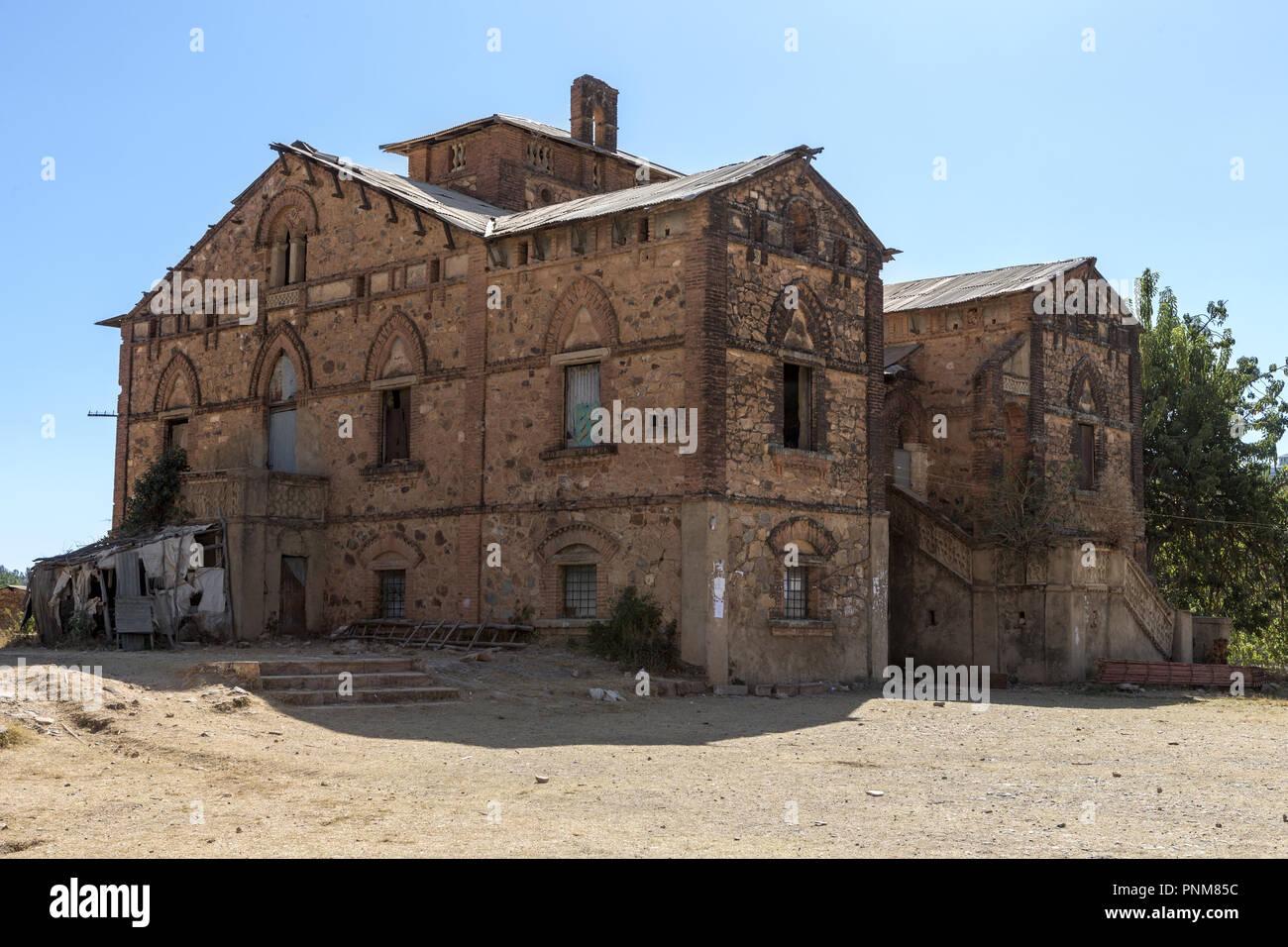 Italian Army HQ during WW2 Adwa, Tigrai, Ethiopia - Stock Image