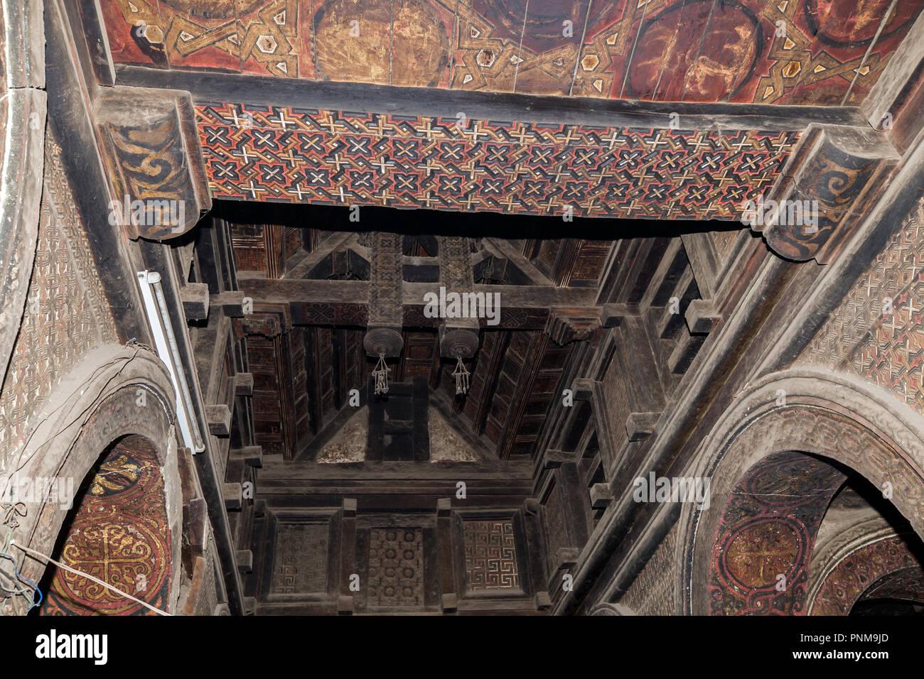 Interior: Yemrehanna Kristos Monastery, Lalibela, Ethiopia - Stock Image