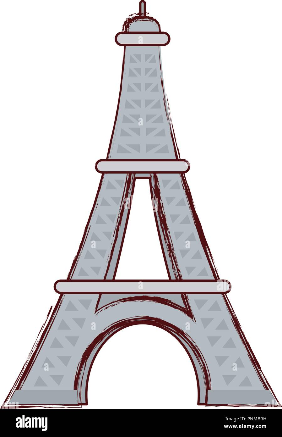 eiffel tower icon over white background, vector illustration - Stock Vector