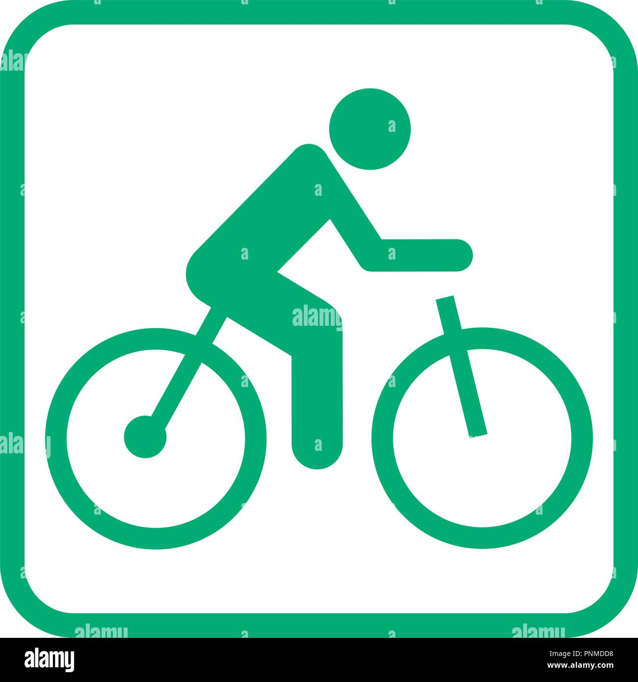 electric bicycle pictogram icon vector illustration - Stock Image