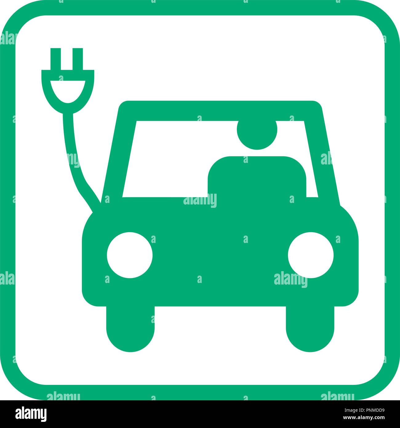 electric car pictogram icon vector illustration - Stock Image