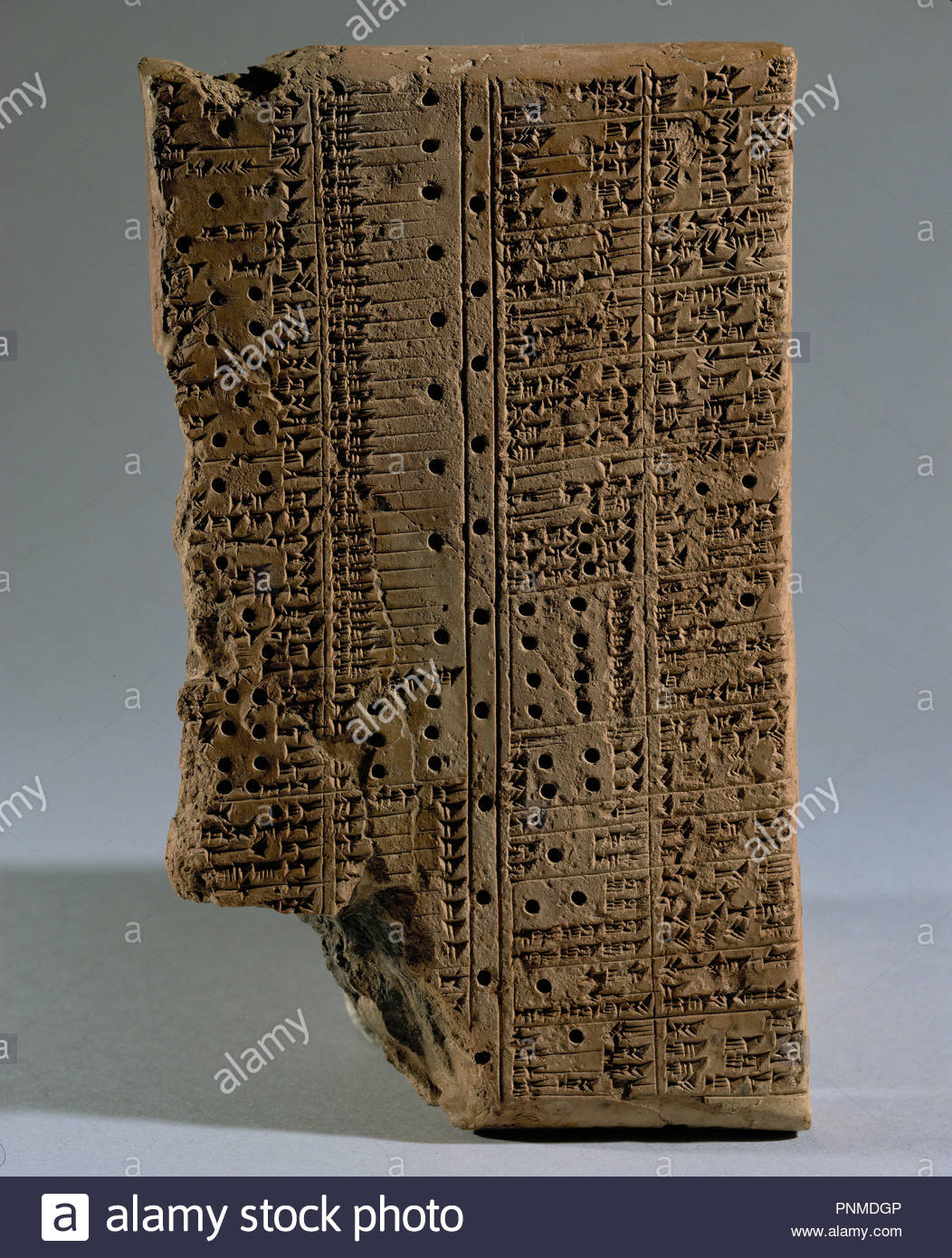Dictionary Of Synonyms With A Colophon Closing Stamp The Library Ashurbanipal 668 627 BCE In Niniveh From Ninveh Baked Clay 18 X 10 Cm AO 7092
