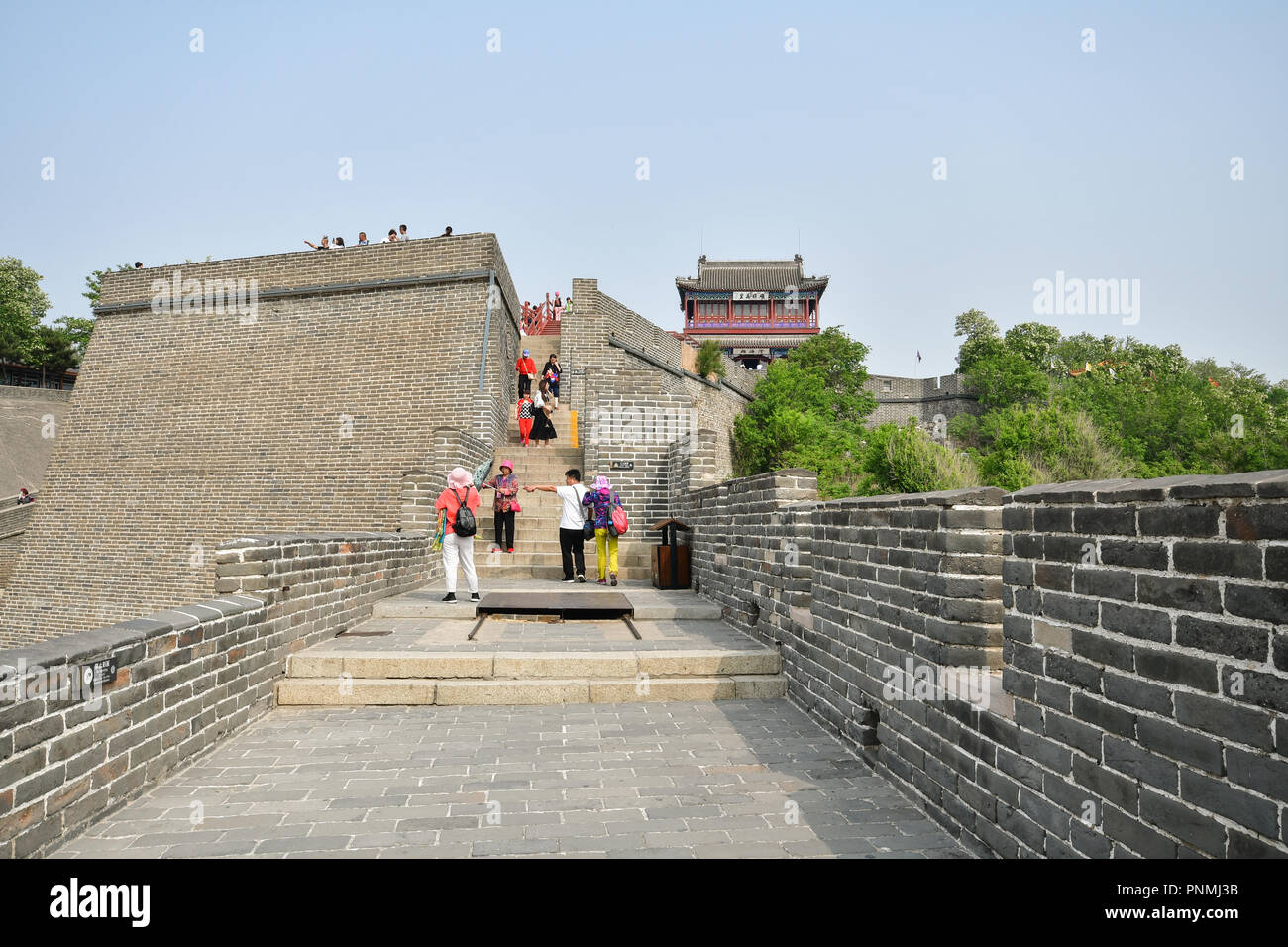 Main building of Laolongtou Great Wall Section, Old Dragons Head, Shanhai Pass,  Shanhaiguan, Qinhuangdao, Hebei Province, China. - Stock Image