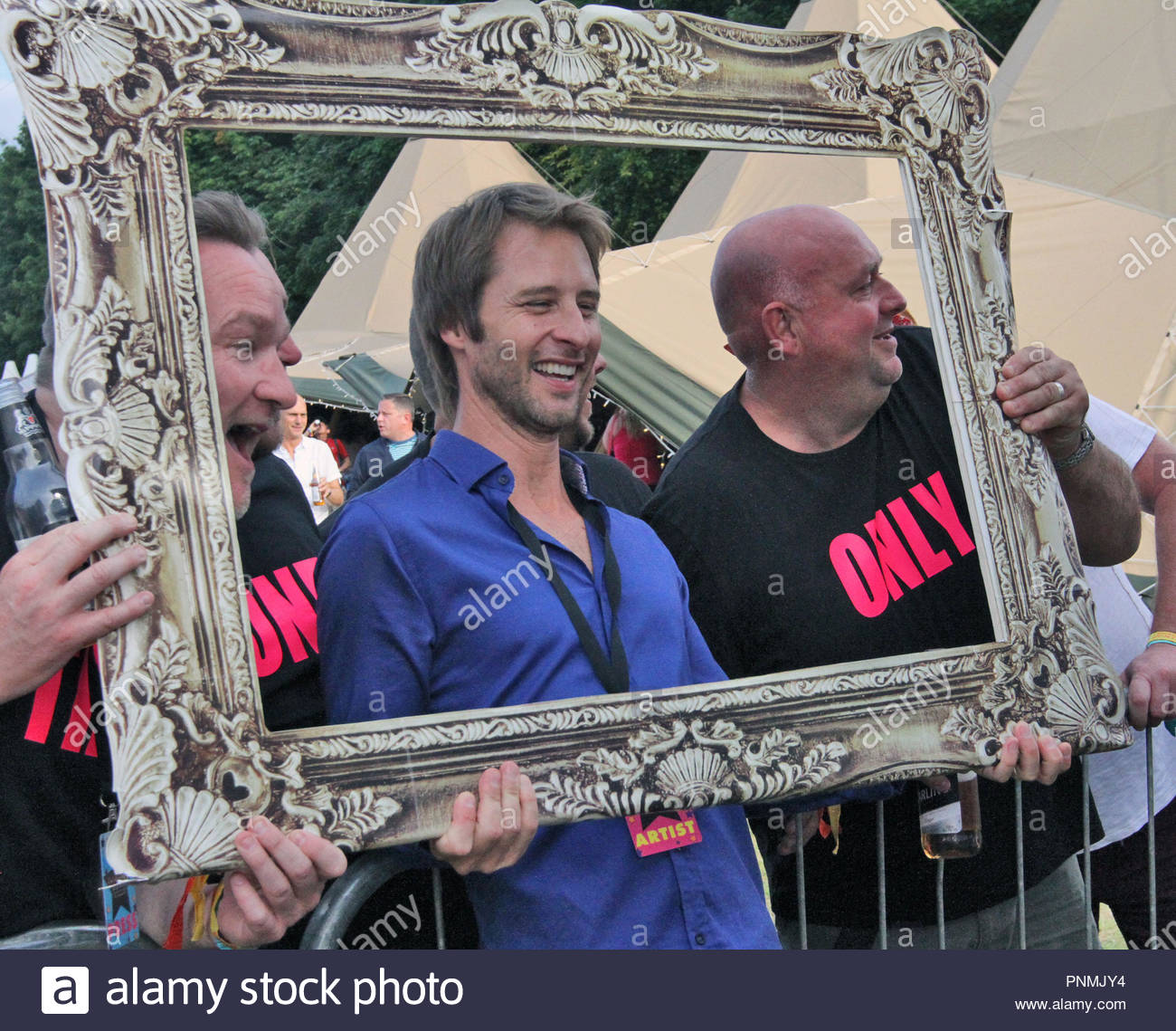 chesney hawkes at rewind north at capesthorne hall, siddington, cheshire on saturday 08 August 2015 - Stock Image