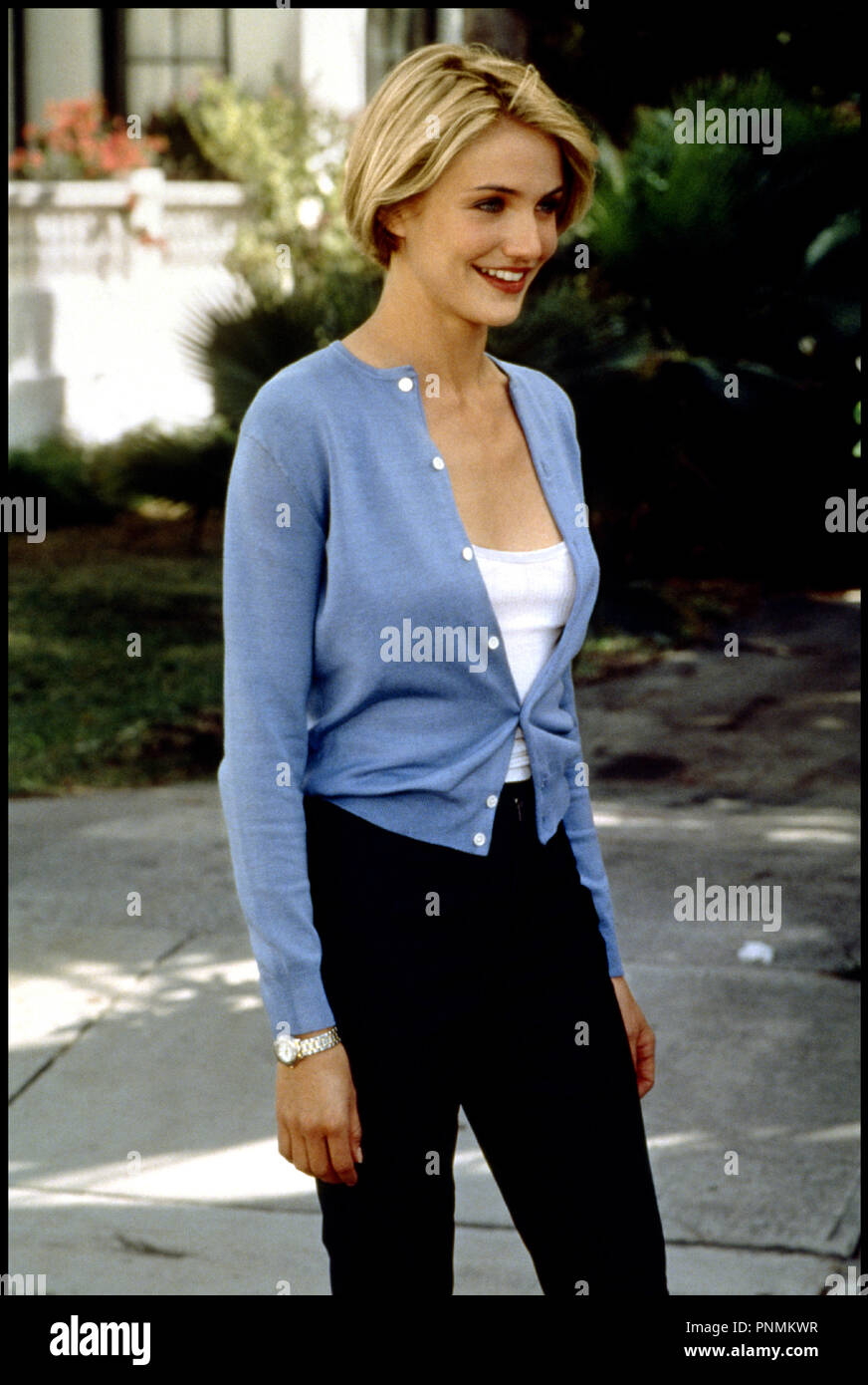Prod DB © 20 th Century Fox / DR MARY A TOUT PRIX (THERE'S SOMETHING ABOUT MARY) de Bobby et Peter Farrelly 1998 USA avec Cameron Diaz cardigan bleu - Stock Image