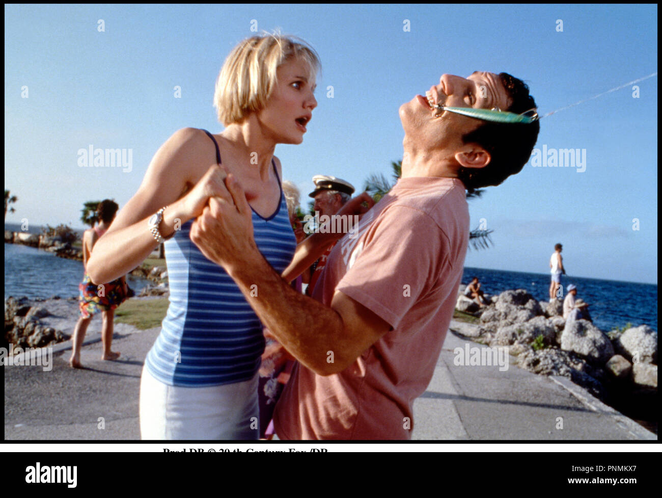 Prod DB © 20 th Century Fox /DR MARY A TOUT PRIX (THERE'S SOMETHING ABOUT MARY) de Bobby et Peter Farrelly 1998 USA avec Cameron Diaz et Ben Stiller hamecon, canne a peche, mal a la bouche, dentiste, - Stock Image