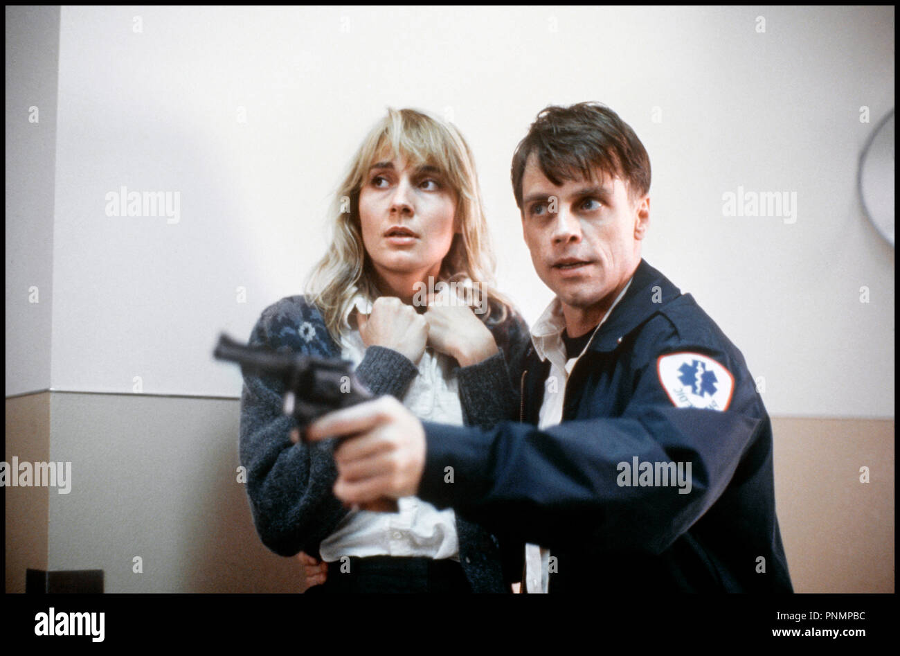 Prod DB © Cannon Group / DR MIDNIGHT RIDE (MIDNIGHT RIDE) de Bob Bralver 1990 USA avec Savina Gersak et Mark Hamill infirmier, braquer, revolver, couple - Stock Image