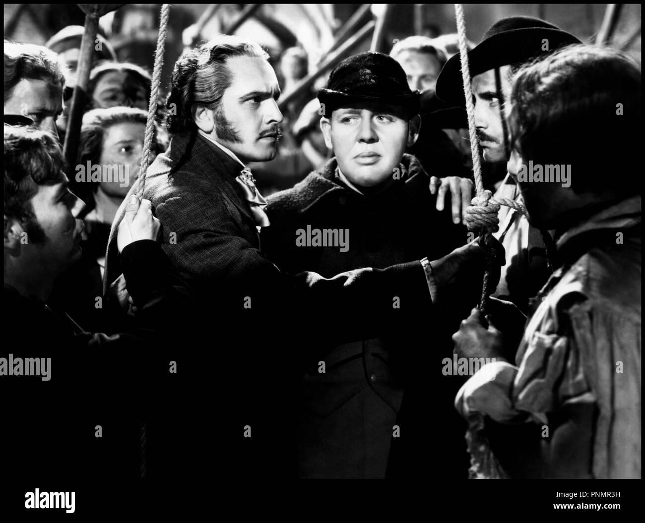Prod DB © 20th Century Fox / DR LES MISERABLES (LES MISERABLES) de Richard  Boleslawski 1935 USA avec Fredric March et Charles Laughton Javert d'après  Victor ...