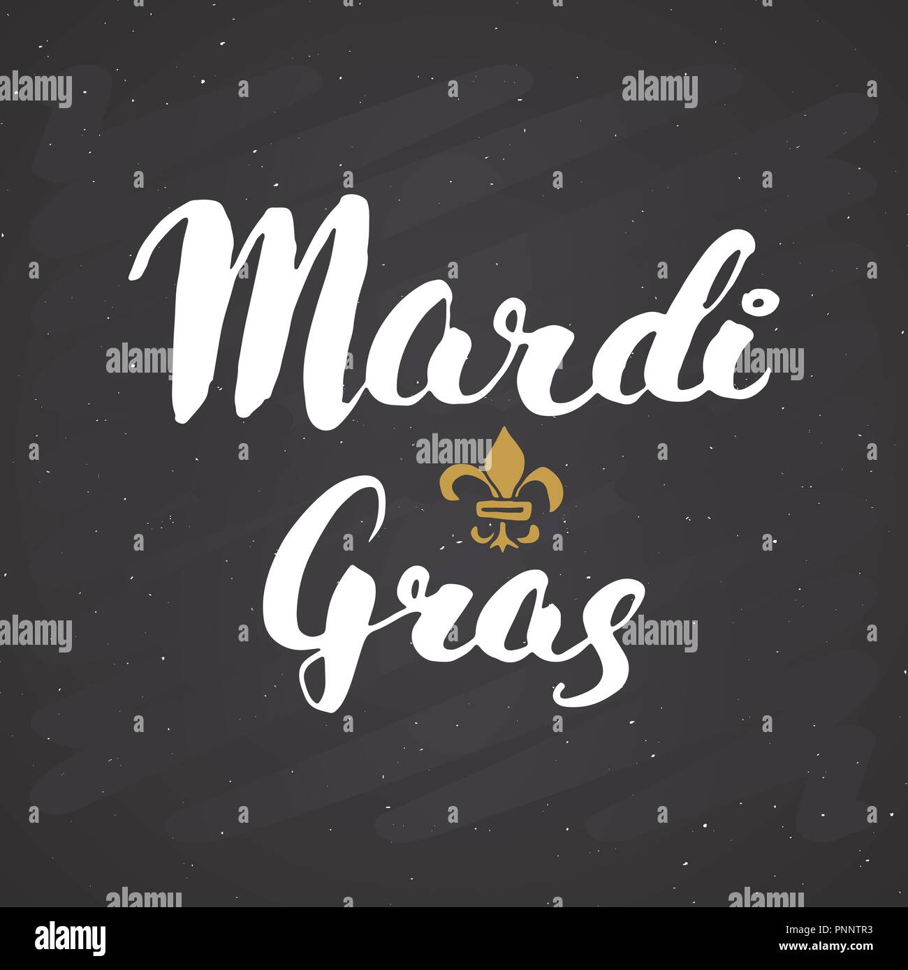 Mardi Gras Calligraphic Lettering  Typographic Greeting Card Design