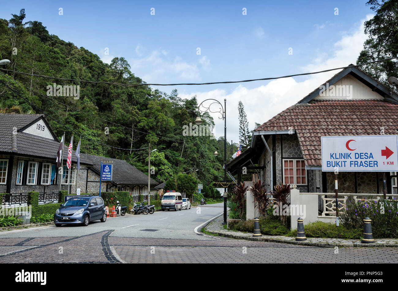 Fraser Hill, Malaysia - Jun 10, 2016: The heritage of pre-war police station landmark at Fraser Hill, Malaysia. - Fraser Hill is a colonial era hill s - Stock Image