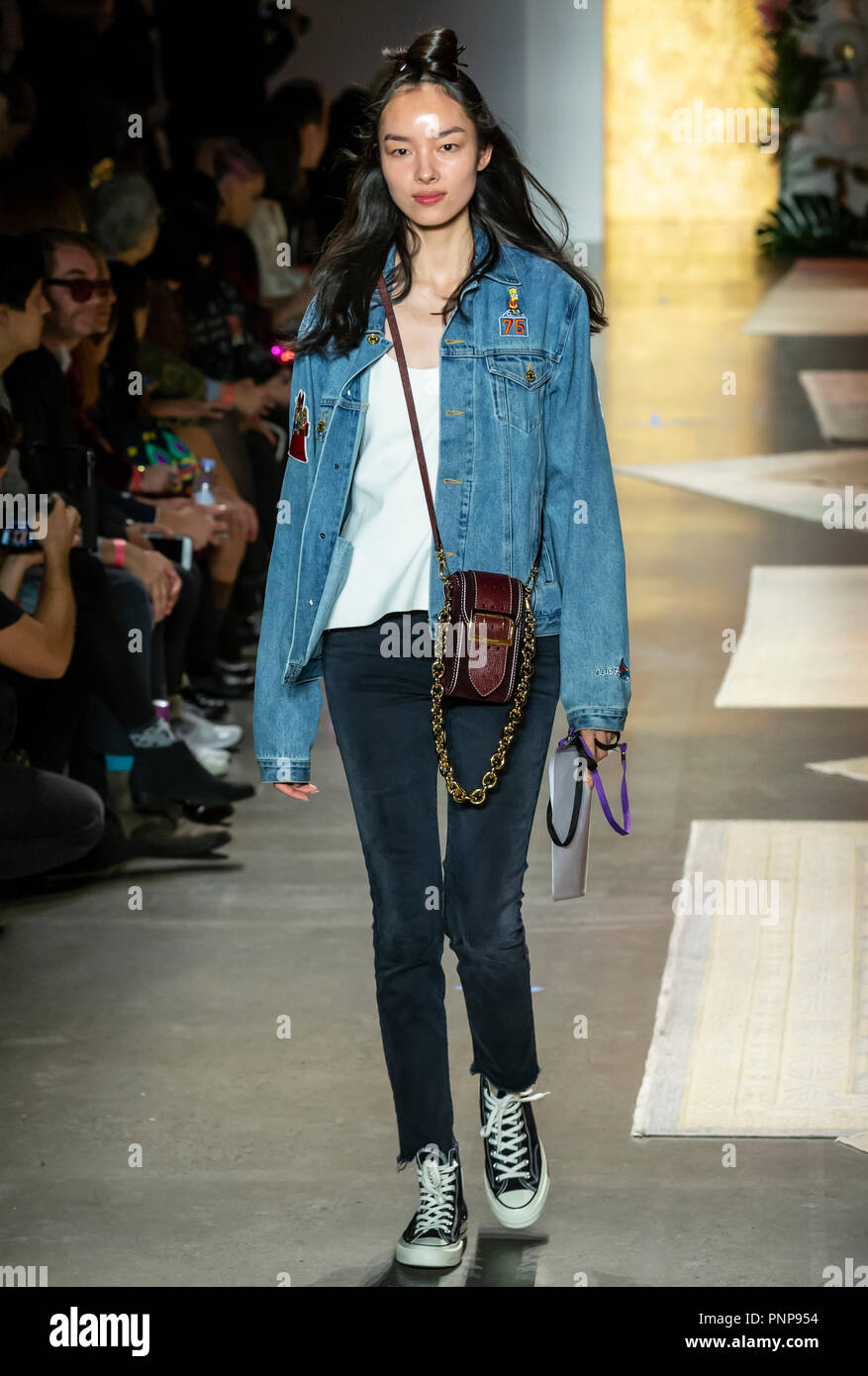 NEW YORK, NY - September 10, 2018: Fei Fei Sun walks the runway during rehearsal for the Anna Sui Spring Summer 2019 fashion show during New York Fash Stock Photo