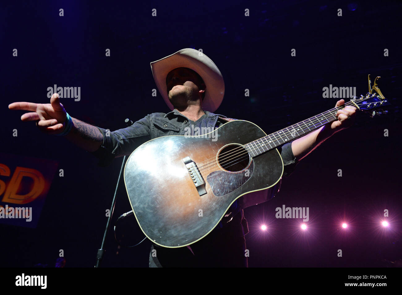 Boca Raton  21st Sep, 2018  Justin Moore performs during the MSD