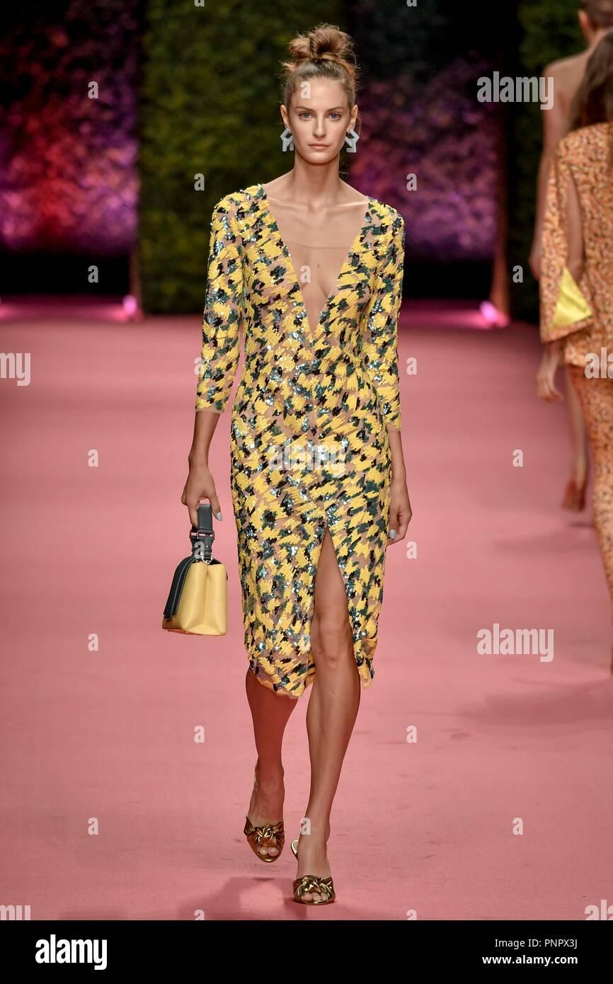Milan Italy 22nd Sep 2018 Milan Fashion Week Women S Fashion
