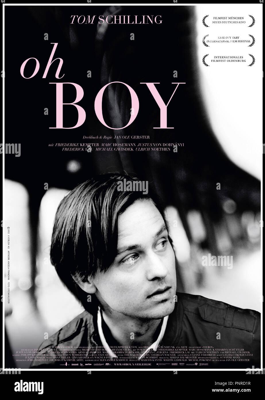 Prod DB © Schiwago Film - Chromosom Filmproduktion - Arte / DR OH BOY de Jan Ole Gerster 2012 ALL. affiche allemande - Stock Image