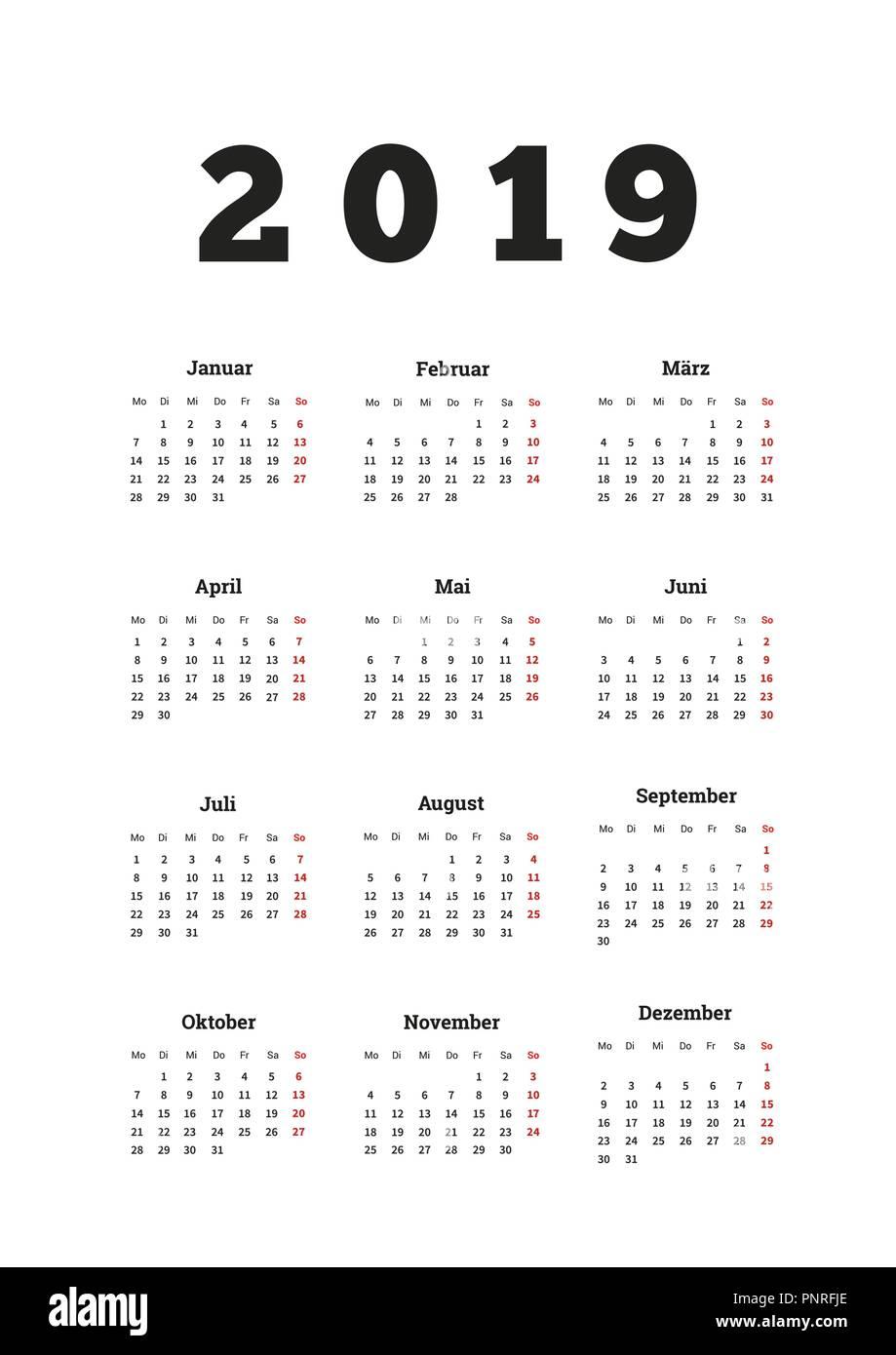 Kalender 2019 2