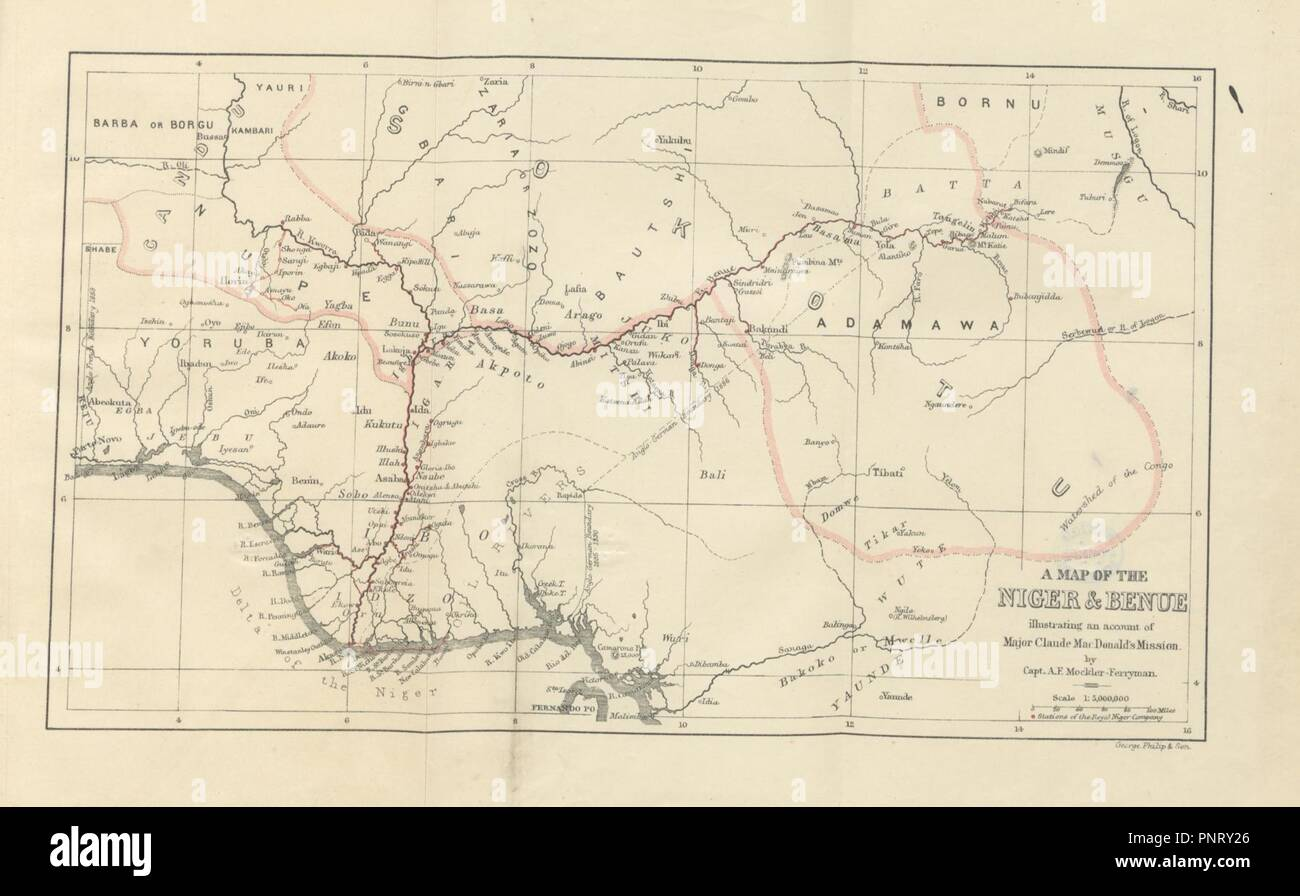 Benue River Africa Map.Image From Page 377 Of Up The Niger Narrative Of Major Claude