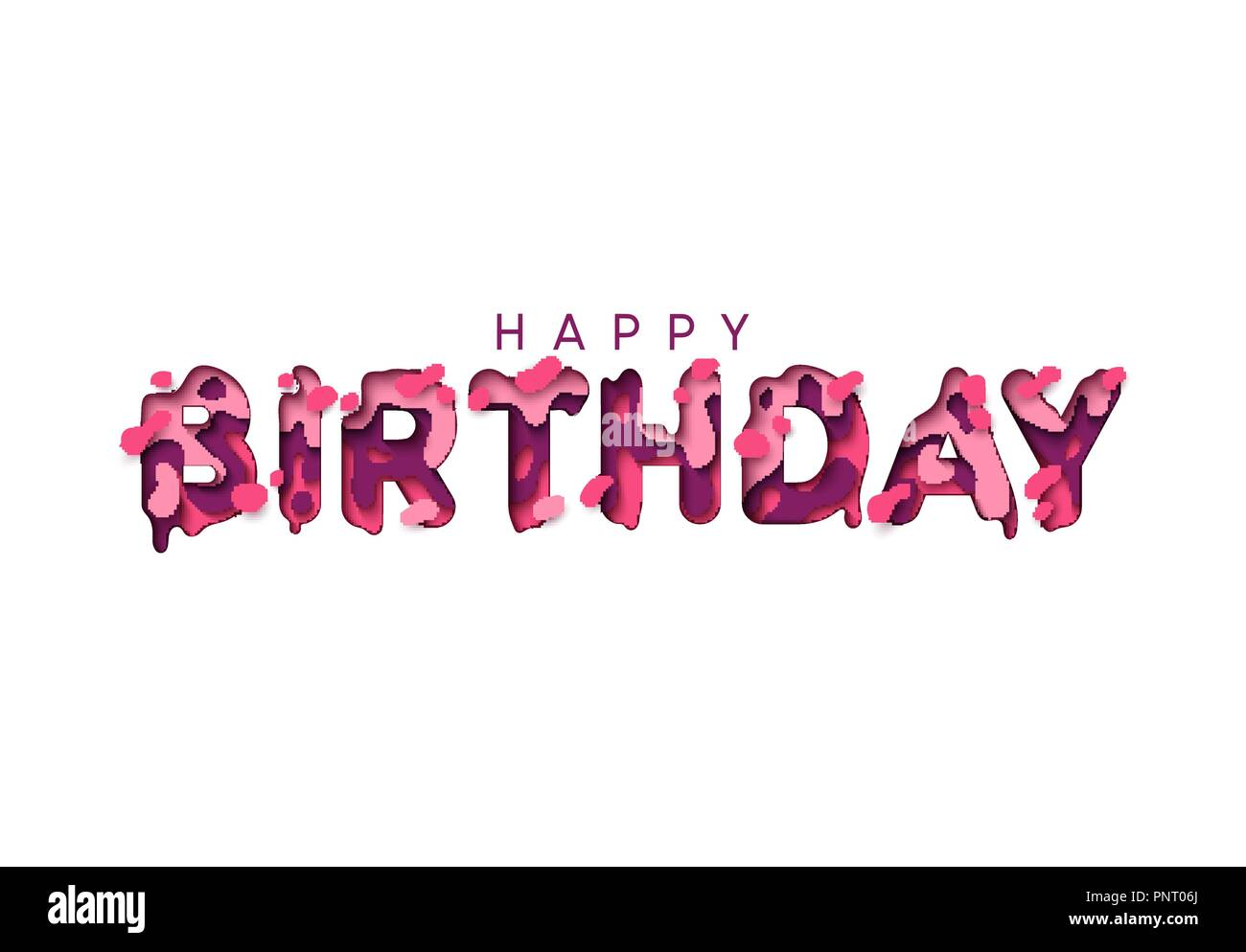 happy birthday letter style happy birthday greeting card design letter modern style 8820