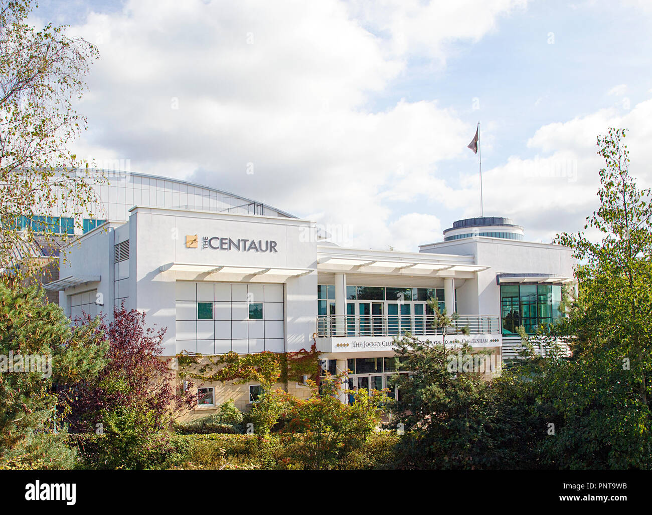 Cheltenham, UK: September 15, 2018: The Centaur is a multi-facility venue located at Cheltenham Racecourse. It can accommodate 800 delegates. - Stock Image