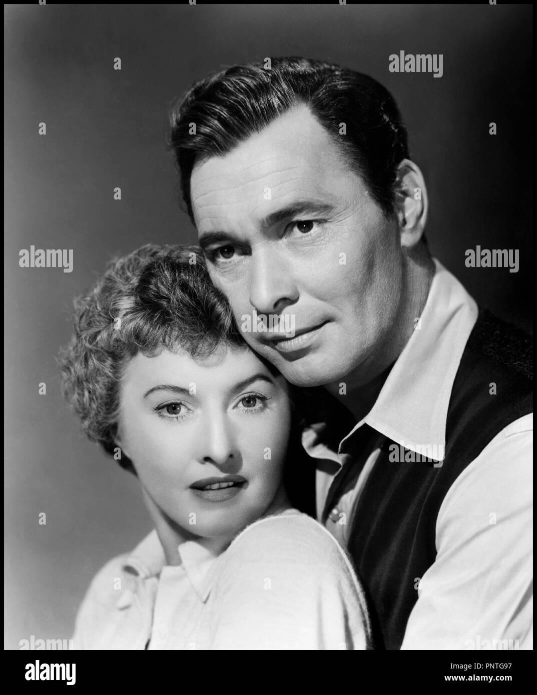 Prod DB © Loew's Inc. - Metro-Goldwyn-Mayer / DR LA PLAGE DESERTE (JEOPARDY) de John Sturges 1953 USA avec Barbara Stanwyck et Barry Sullivan portrait, couple, pose, film noir code MGM: 1594 - Stock Image