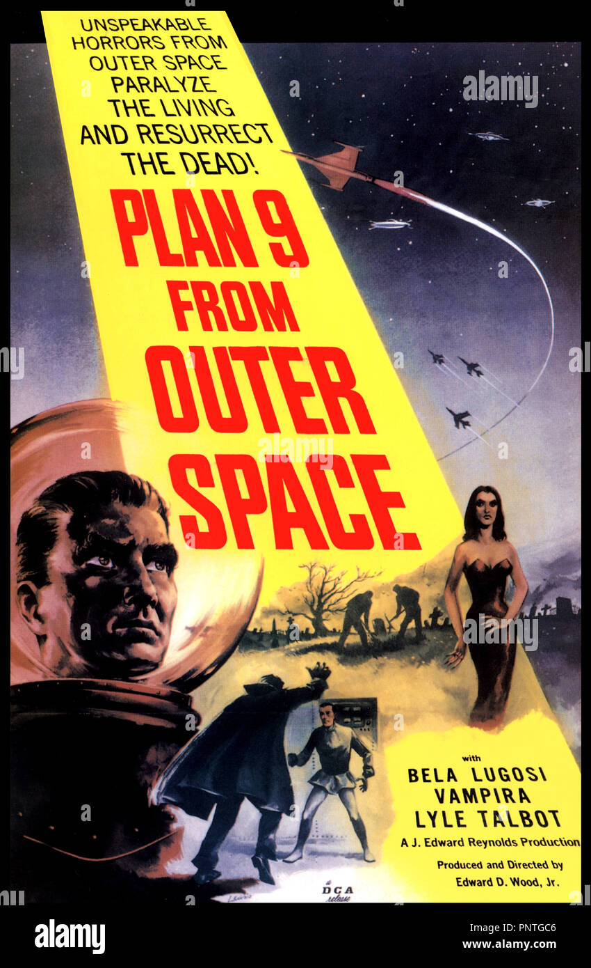 Prod DB © Reynolds Pictures / DR PLAN NINE FROM OUTER SPACE (PLAN 9 FROM OUTER SPACE) de Ed Wood 1958 USA affiche - Stock Image