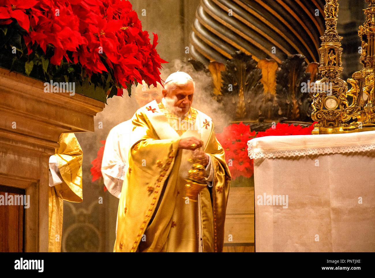 pope Benedict XVI - Stock Image