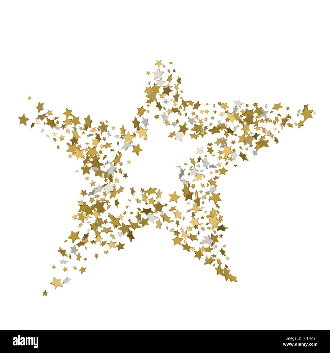3d golden star vector banner simple form template card vip