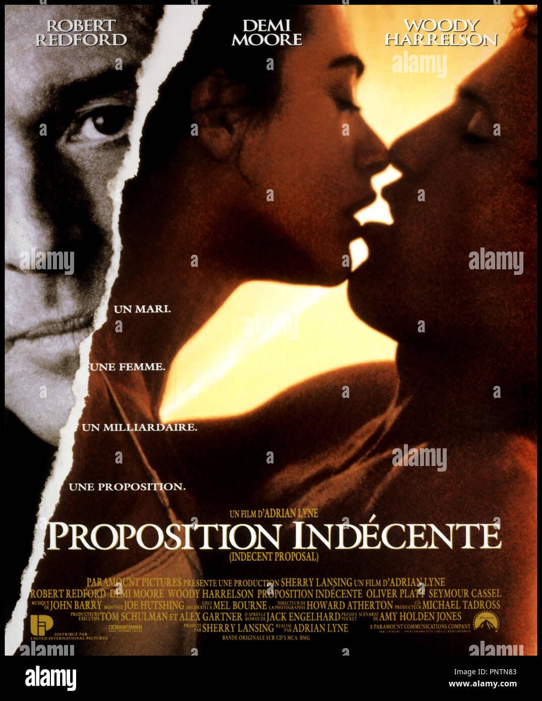 Prod DB ©ÊParamount / DR PROPOSITION INDECENTE (INDECENT PROPOSAL) de Adrian Lyne 1993 USA affiche - Stock Image