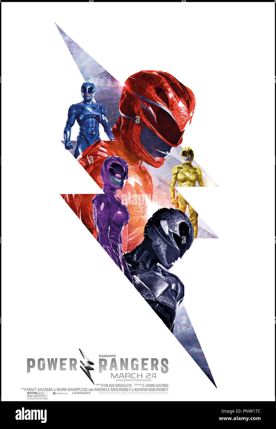 Prod DB © Lionsgate - Saban Brands -Saban Entertainment / DR POWER RANGERS de Dean Israelite 2017 USA teaser americain fantastique, action, super heros d'apres la serie TV 'Mighty Morphin Power Rangers' créée par Haim Saban et Shuki Levy - Stock Image