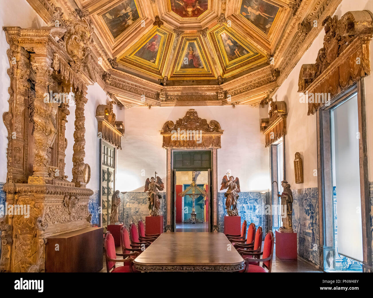 The Chapter House (Sala Capitular) in Porto Cathedral ( Se do Porto ), Porto, Portugal - Stock Image