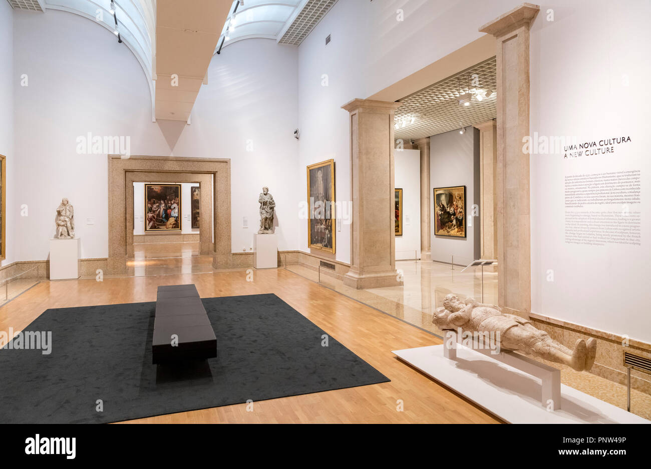 Gallery in the Museu Nacional de Arte Antiga (National Museum of Ancient Art) Lisbon, Portugal - Stock Image