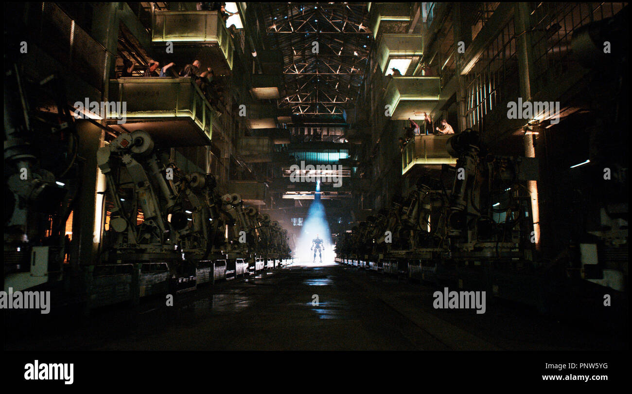 Prod DB © DreamWorks SKG - Angry Films / DR REAL STEEL de Shawn Levy 2011 USA science fiction, anticipation, robot Stock Photo