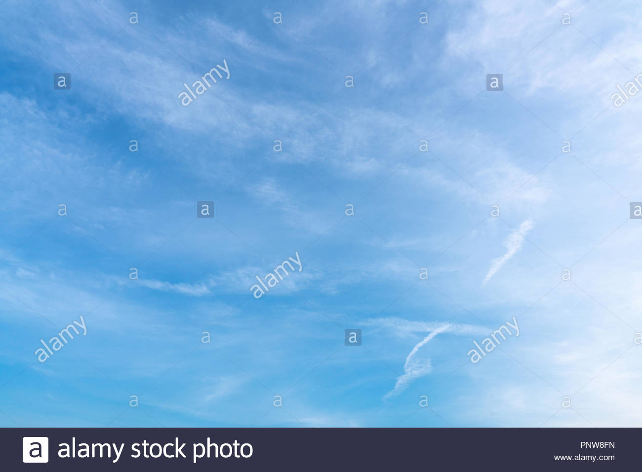 clouds in the blue sky - Stock Image