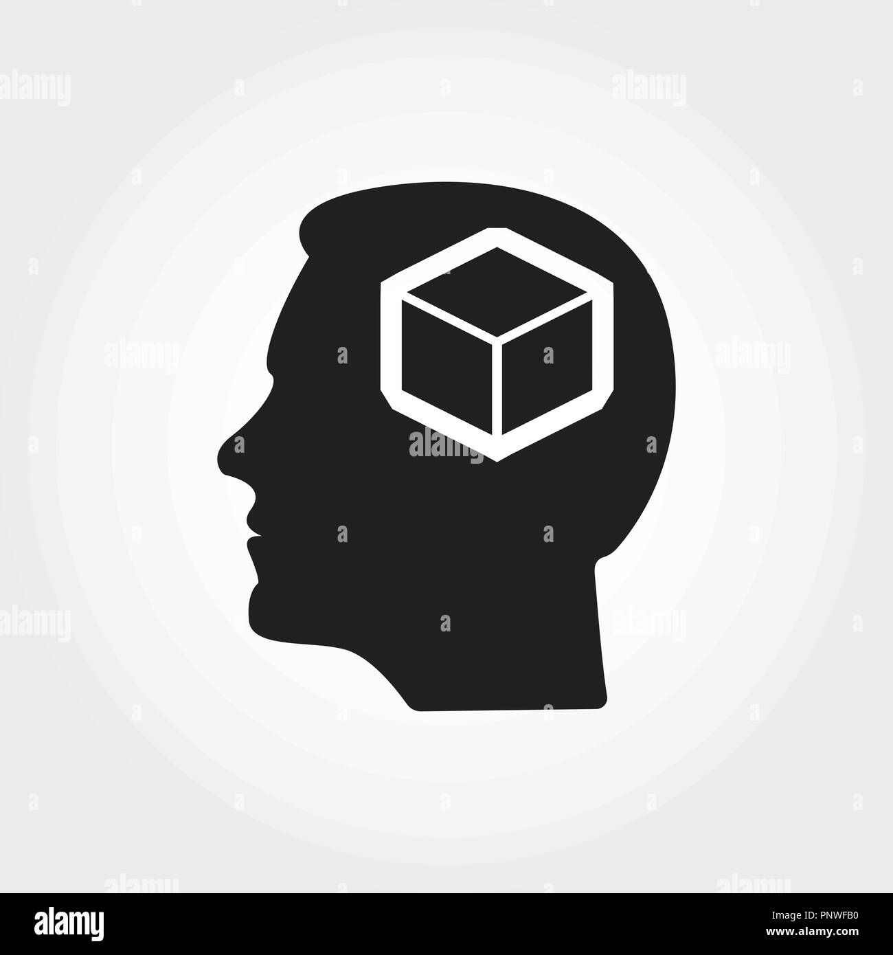 Personality icon. Monochrome element illustration. Personality icon design from soft skills collection. Web design, apps, software and print usage. - Stock Vector