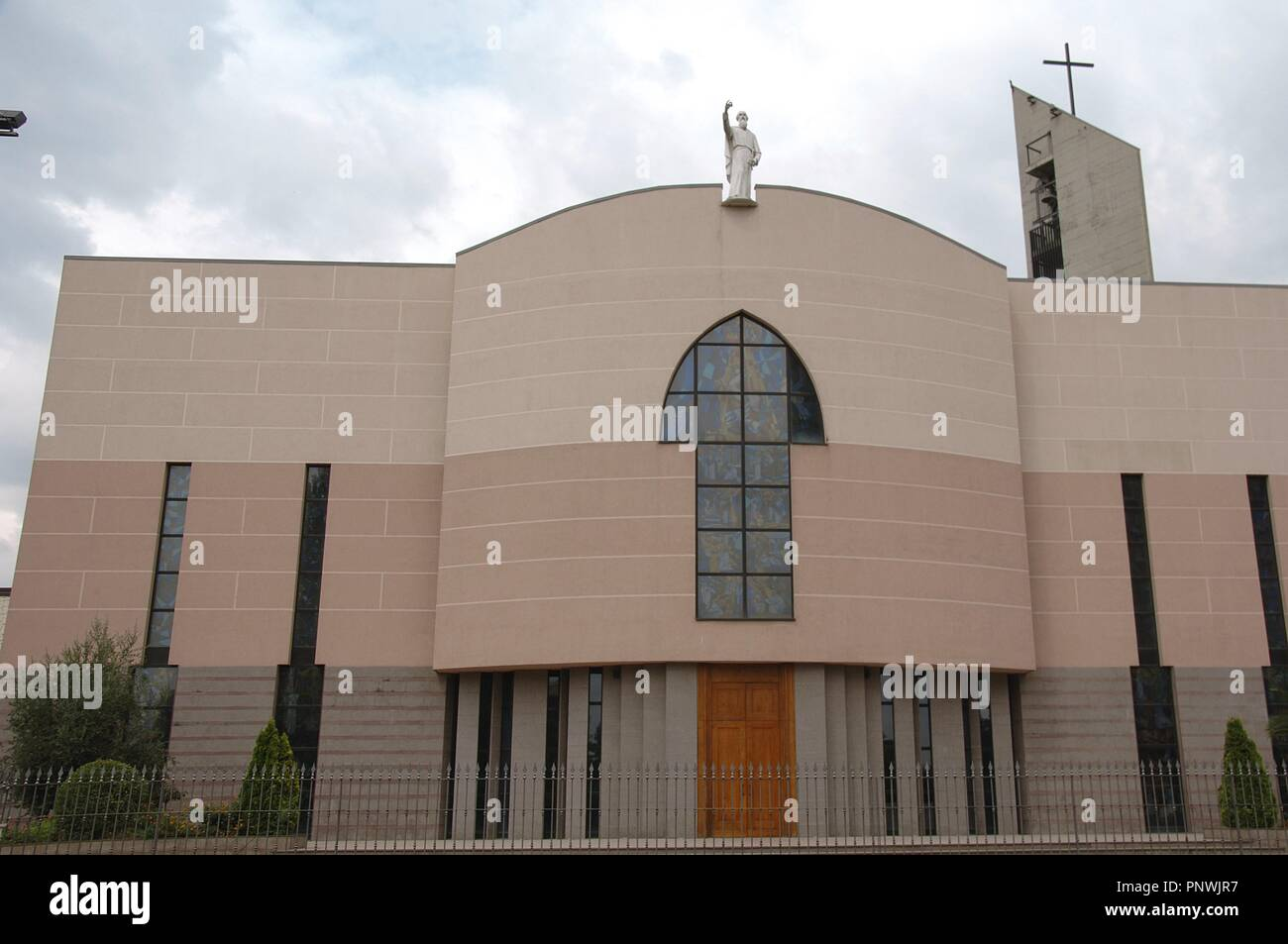 Albania. Tirana. St Paul's Cathedral. Completed in 1999. Facade. Outside. Stock Photo