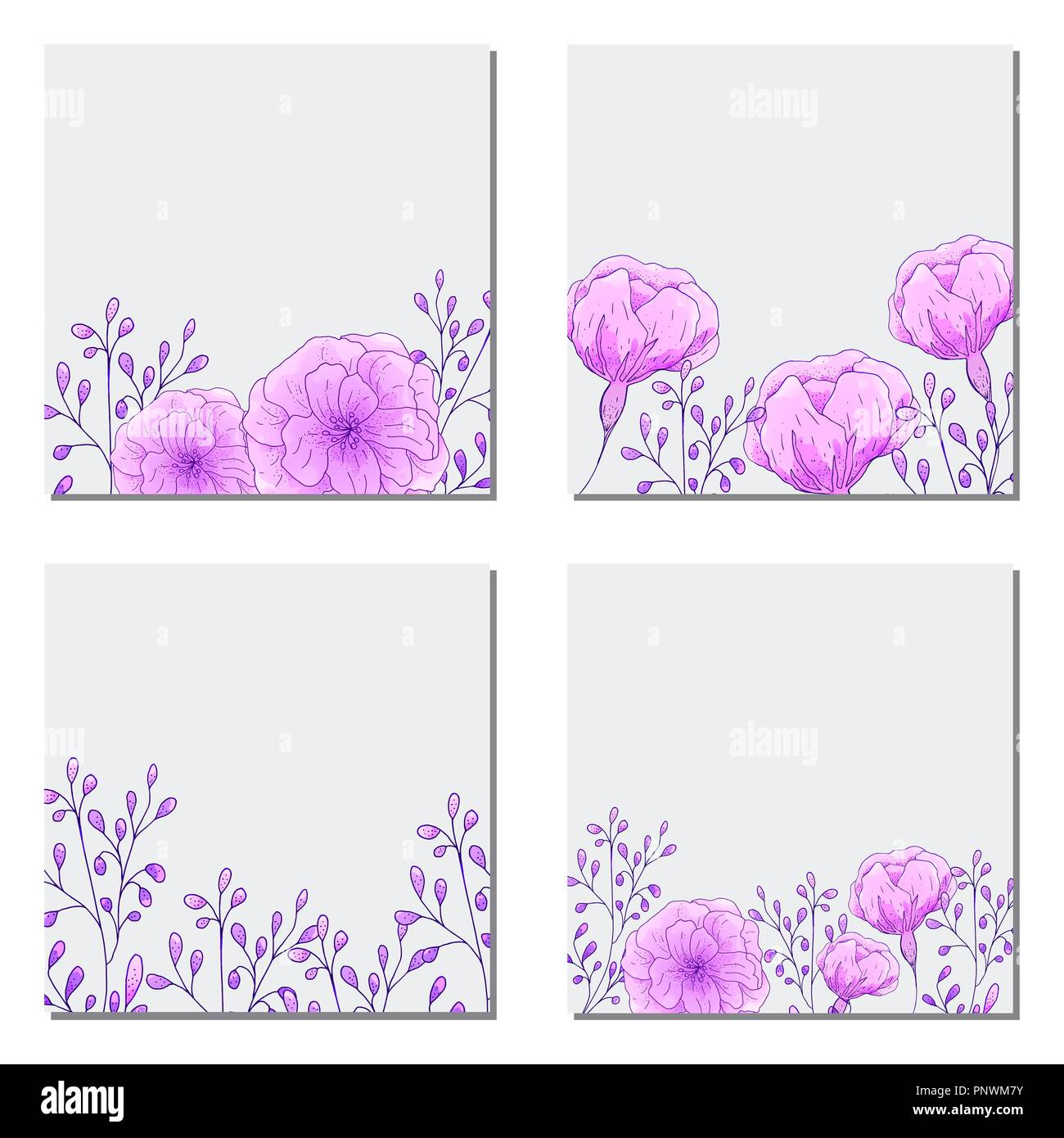 collection of vector template label visit cards square greeting