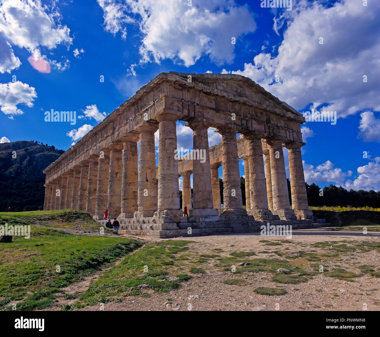 Greek temple of Segesta - 5th century BC. Sicily. Italy. Europe Stock Photo