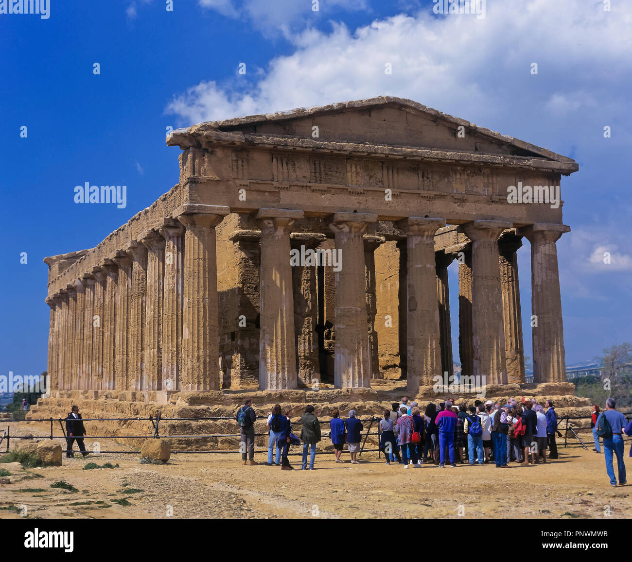 Greek temple of Concordia - 5th century BC. Valley of the temples. Agrigento. Sicily. Italy. Europe - Stock Image